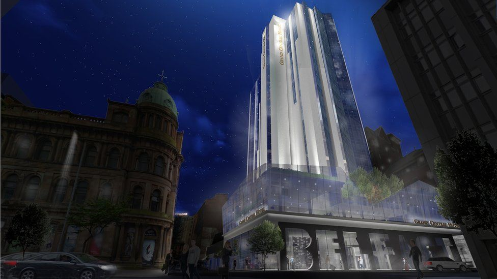 Blueprint of Grand Central Hotel in Belfast