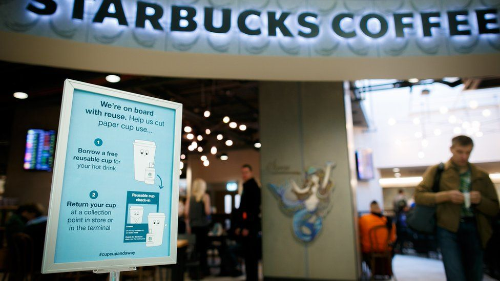 Starbucks in Gatwick Airport