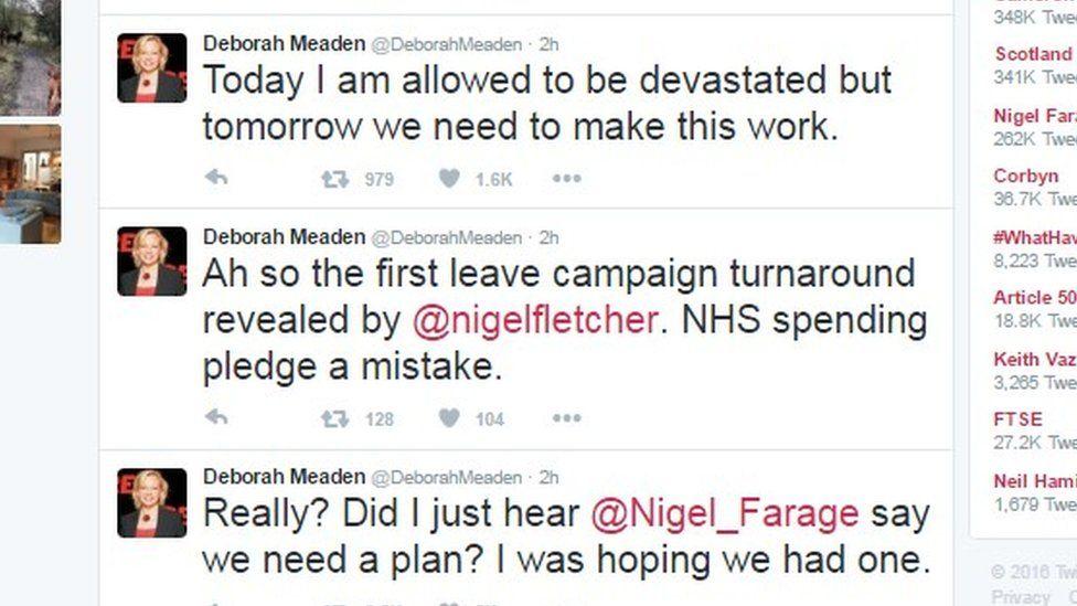 Somerset-based businesswoman Dragon's Den star, Deborah Meaden tweet