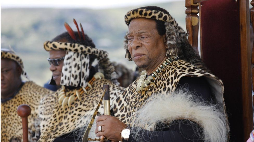 King Goodwill Zwelithini (right) has died aged 72