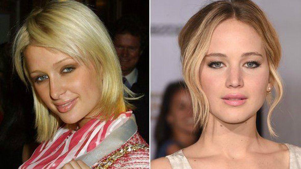 Paris Hilton (left) and Jennifer Lawrence (right)