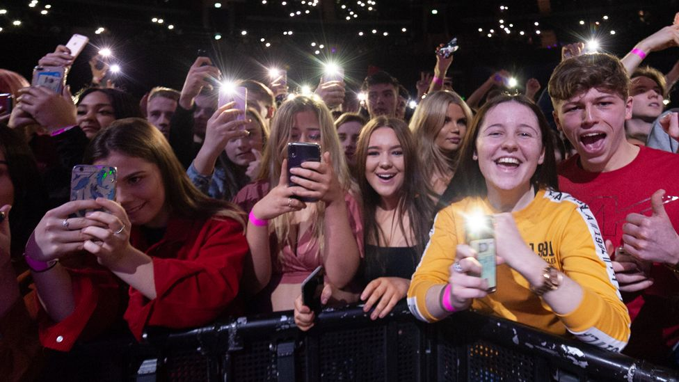 Fans at a Post Malone concert at the SSE Hydro