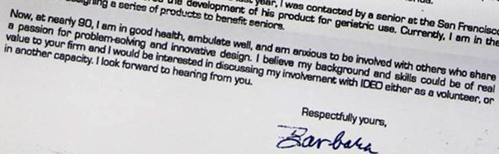 excerpt from Barbara's letter