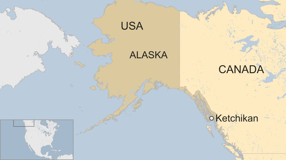 Deadly seaplane collision in Ketchikan Alaska kills six people - BBC on juneau alaska map, bethel alaska map, dixon entrance alaska map, kenai alaska map, fairbanks map, anchorage alaska map, tanana alaska map, seward map, sitka map, mcgrath alaska map, prince of wales island alaska map, nenana alaska map, prince william sound alaska map, craig alaska map, haines alaska map, yukon alaska map, skagway alaska map, kodiak alaska map, tracy arm fjord alaska map, victoria bc map,