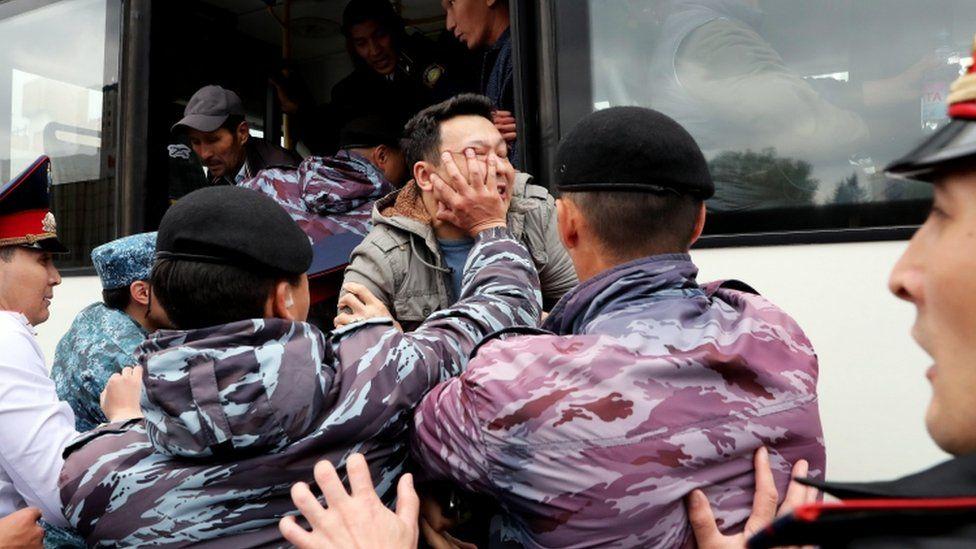 Protesters clash with police in Nur-Sultan