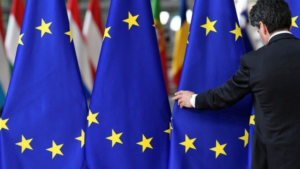 File image of EU flags