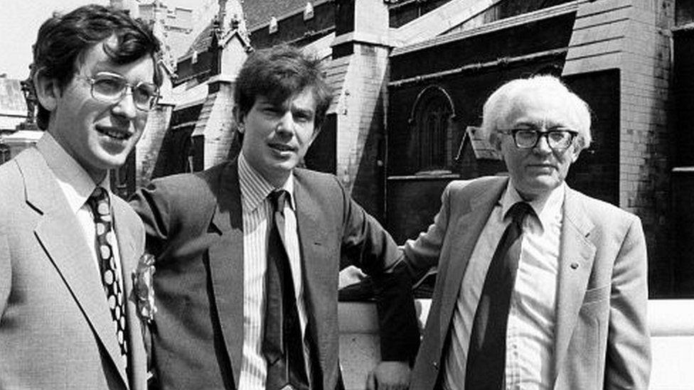 David Nicholas, Tony Blair and Michael Foot