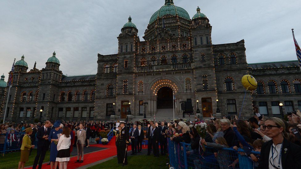 Thousands gathered outside the Legislative Assembly in Victoria