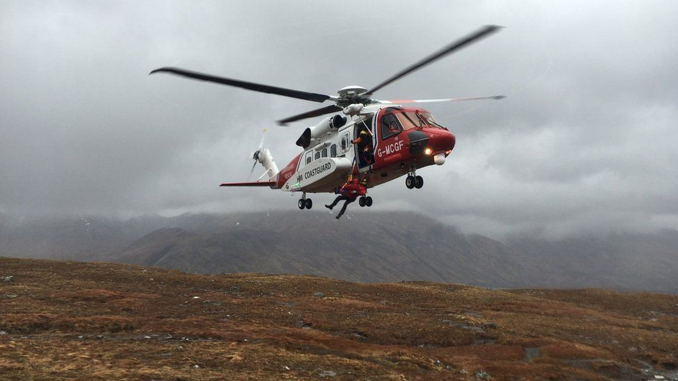Inverness-based Coastguard helicopter