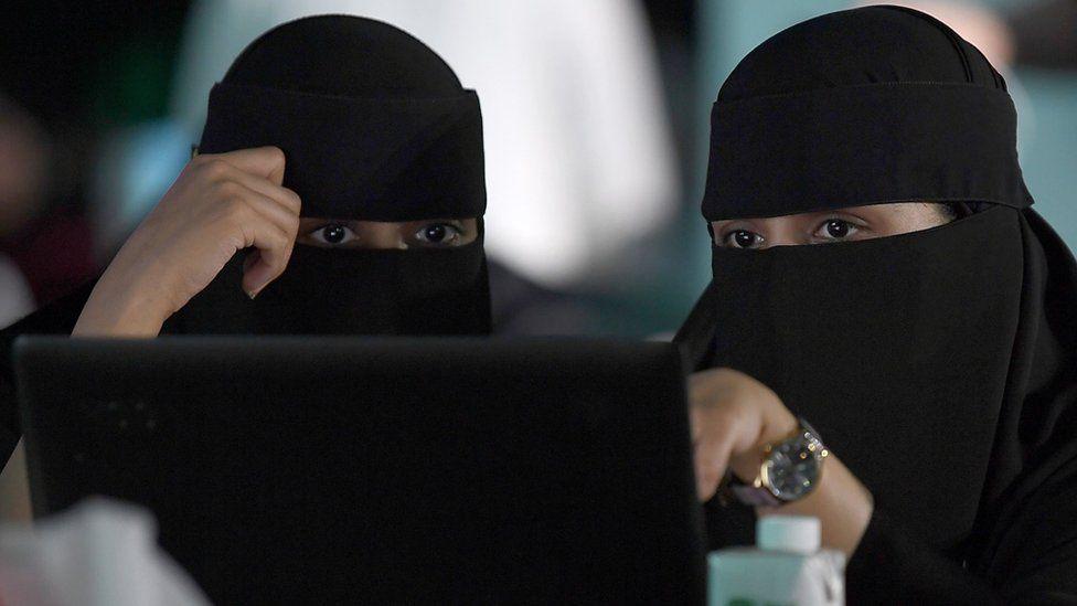 File photo showing Saudi women attending a hackathon in Jeddah on 31 July 2018