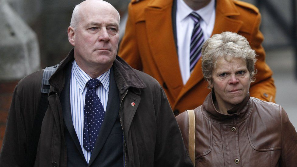 Bob and Sally Dowler arriving at the Leveson inquiry into media standards