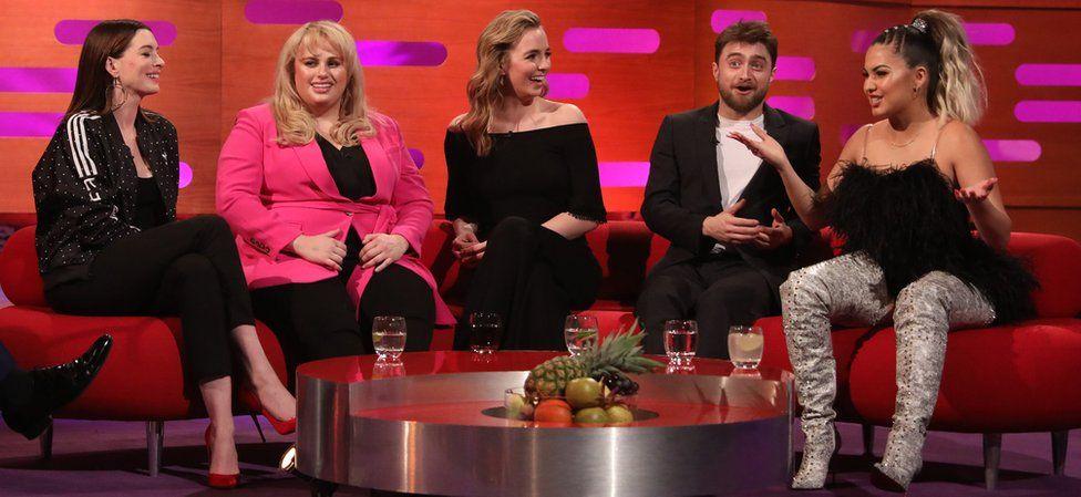 Anne Hathaway, Rebel Wilson, Jodie Comer, Daniel Radcliffe and Mabel