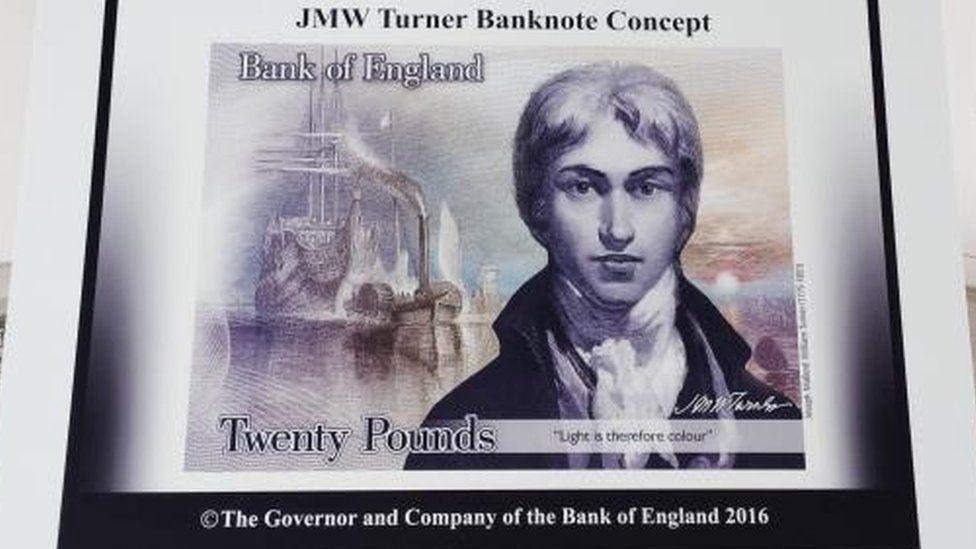 JMW Turner banknote concept