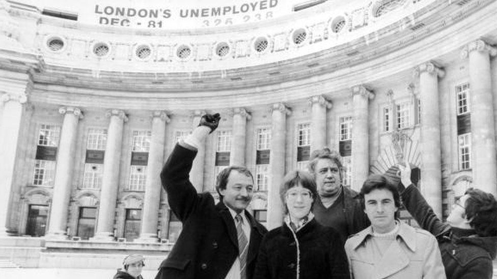 Ken Livingstone with Val Wise, Charlie Rossi, John McDonnell and Michael Ward