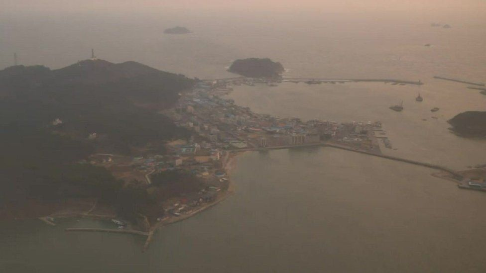 Pollution over South Korea from the plane