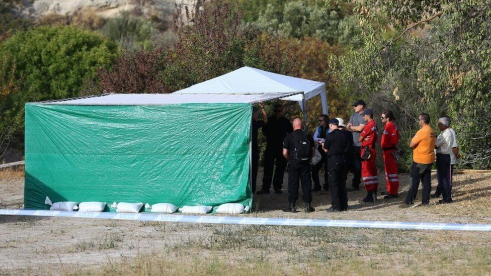 Tents at search site