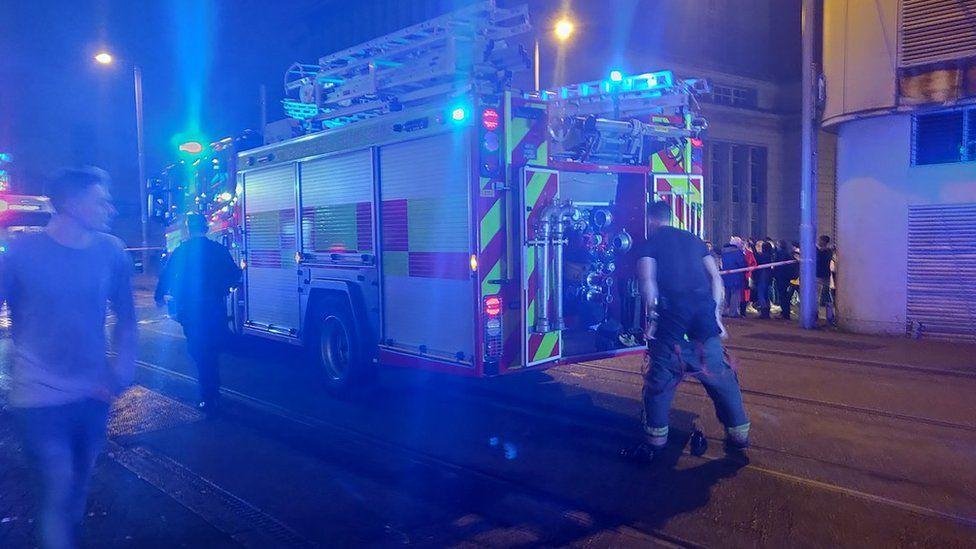 A fire engine outside Rock City
