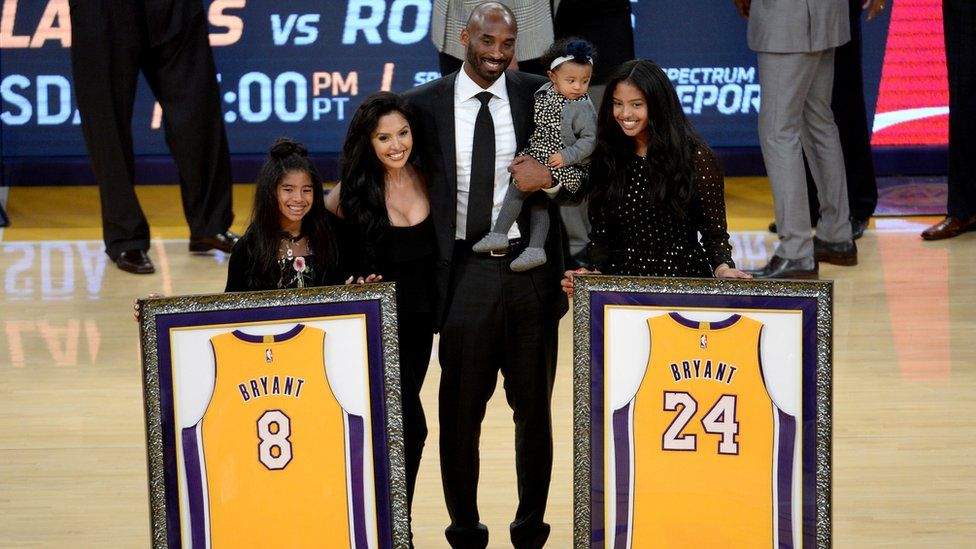 Kobe with his family