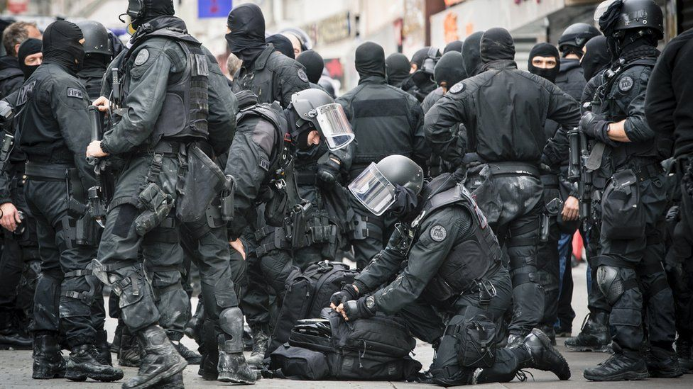 Police involved in Wednesday's raid in the suburb of Saint Denis