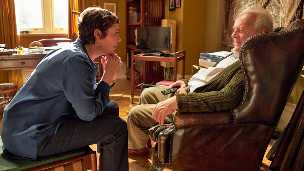 Olivia Colman stars with Sir Anthony Hopkins in The Father