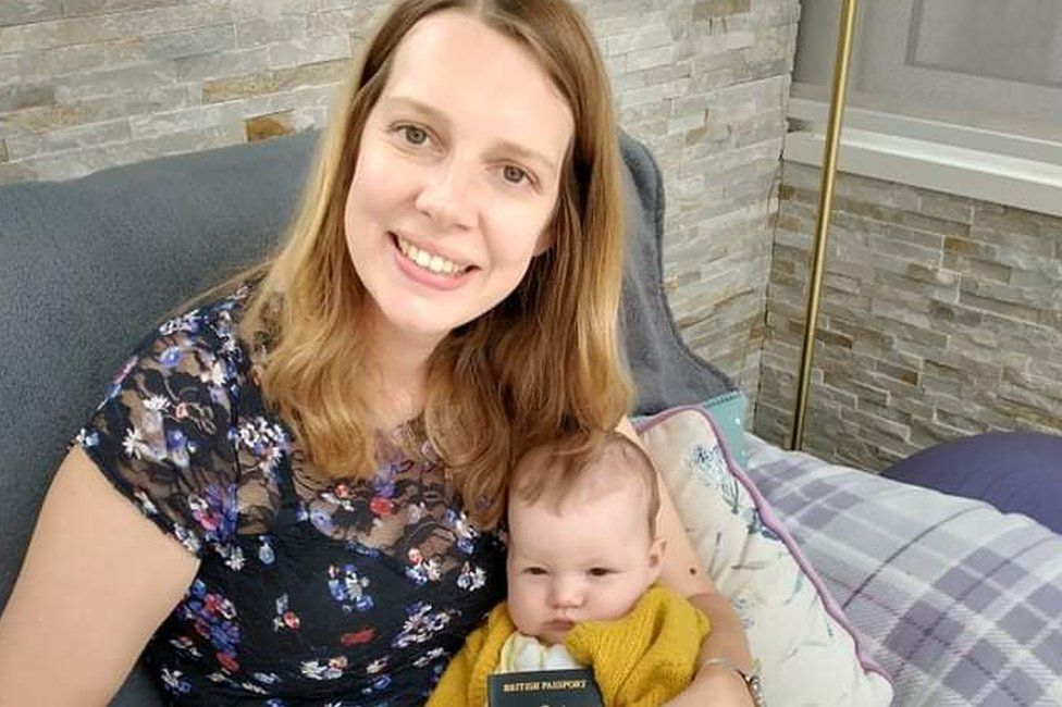 Emma Wood with her six-month-old daughter
