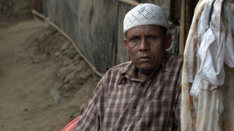 A Rohingya man in Bangladesh
