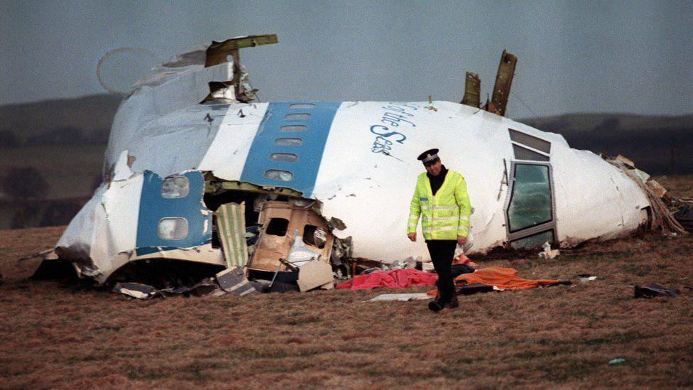 Pan Am flight 103 wreckage