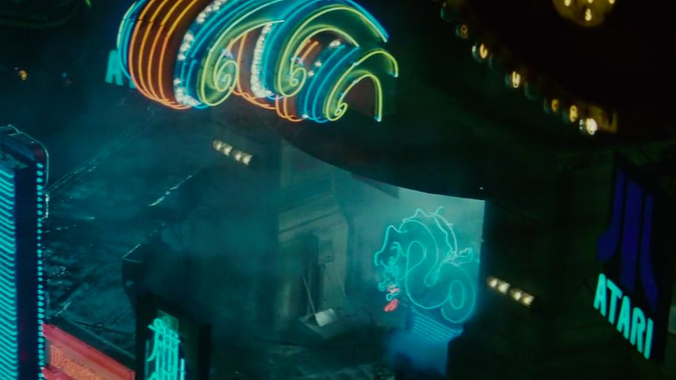 An Atari sign in the film Blade Runner