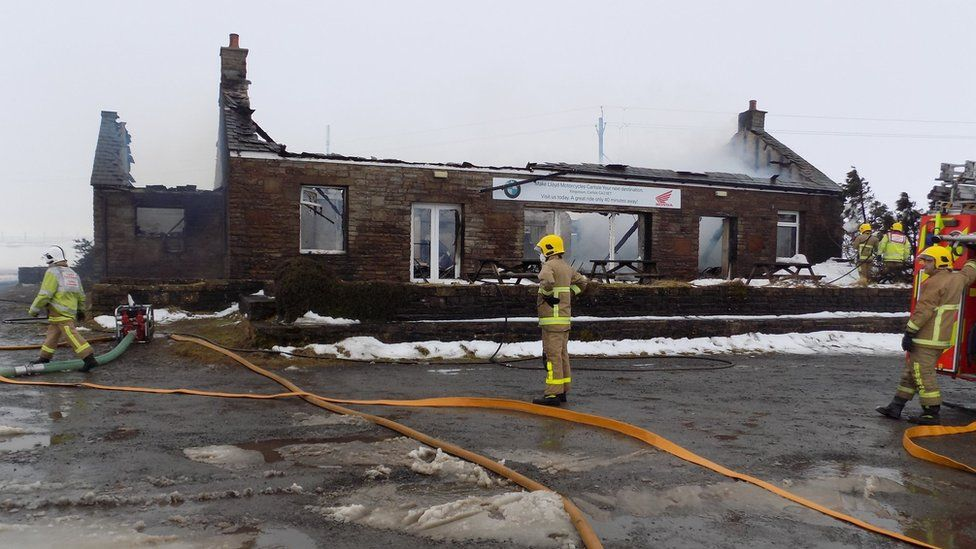Hartside Cafe after the fire