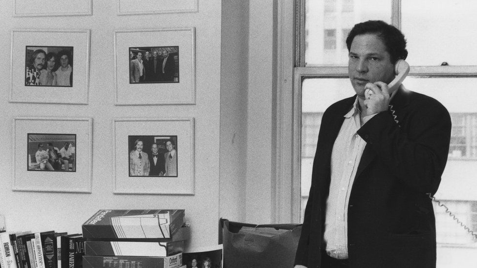 Harvey Weinstein of Miramax Films at his office in New York City in 1989