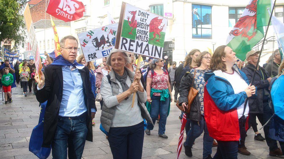 A protest over Brexit