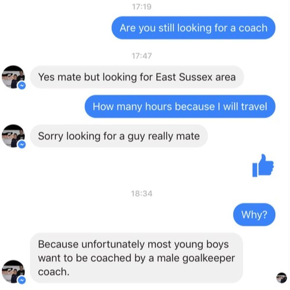 Part of a conversation on social media