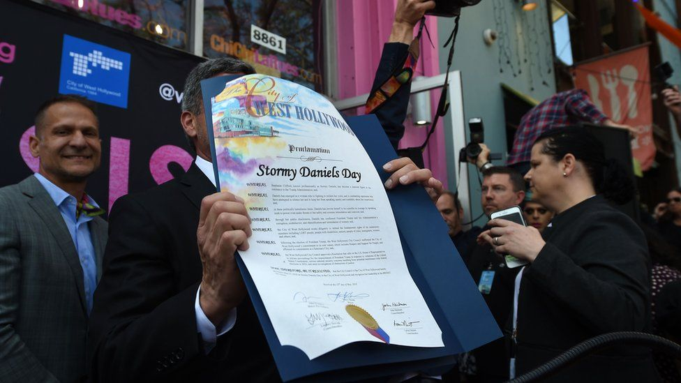 The West Hollywood proclamation declaring Stormy Daniels Day