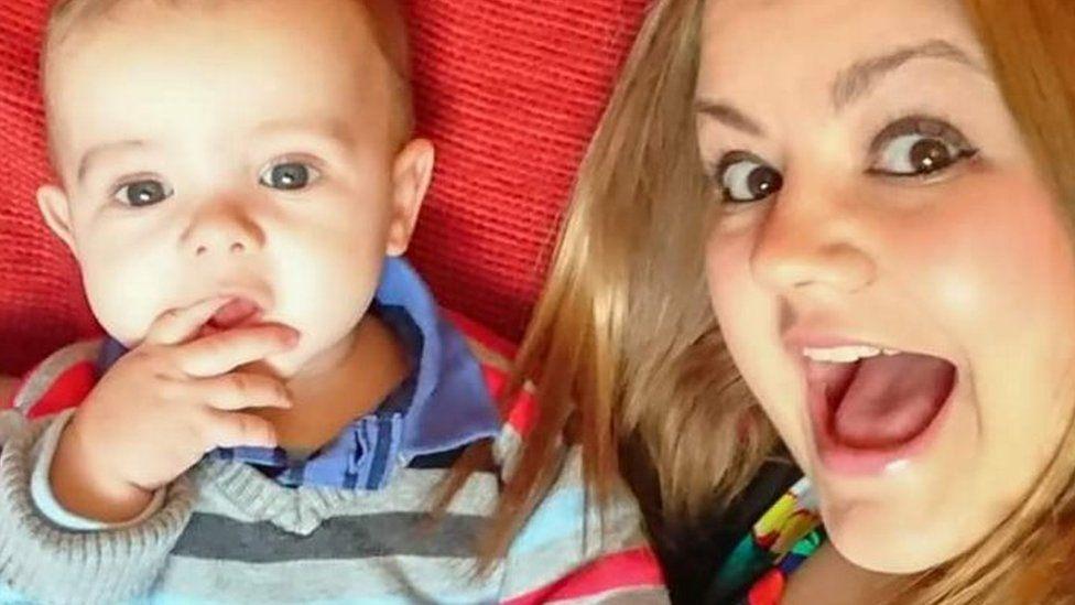 Sam Fletcher with his mother Sarah Rose