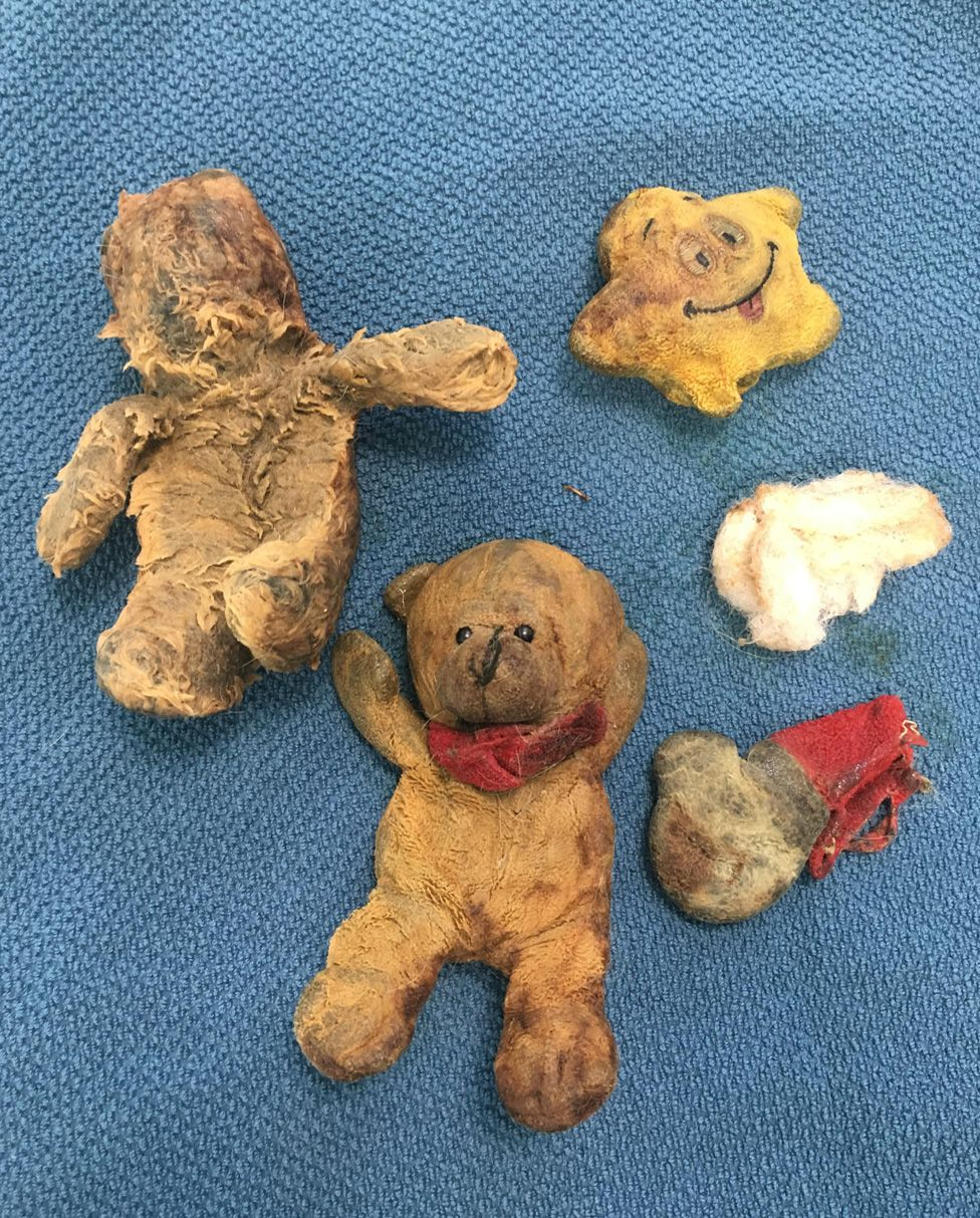 Recovered teddy bears