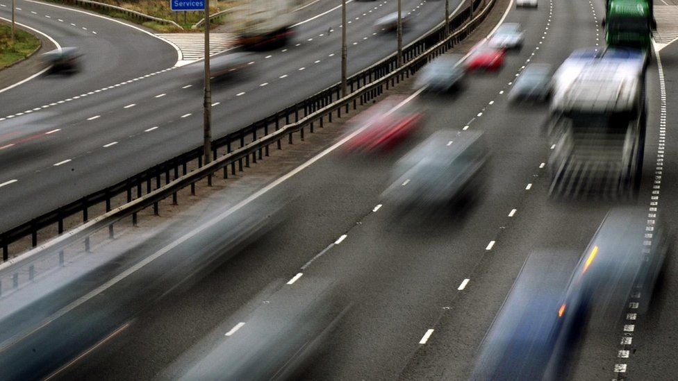 Cars on motorway