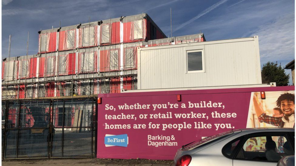Barking, new council homes