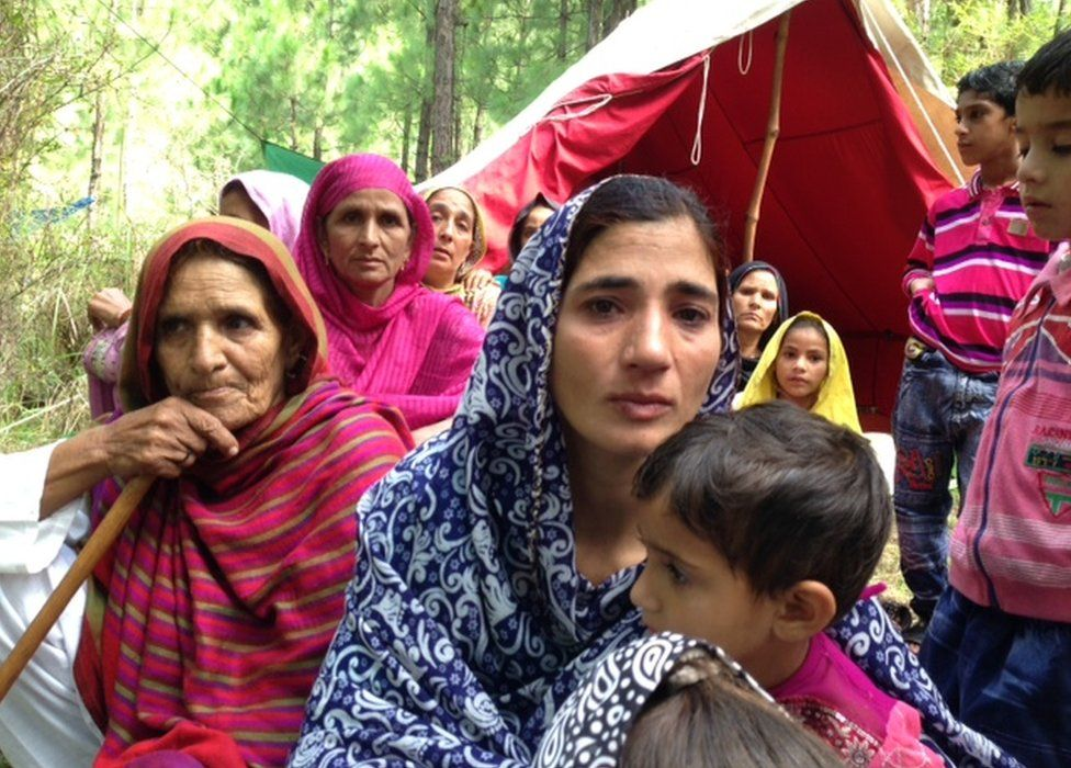 Picture of Zulekha Khatoon in Pakistan administered Kashmir in August 2015