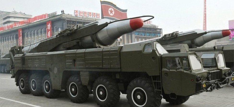 A Musudan missile on display at a military parade in North Korea (2010)