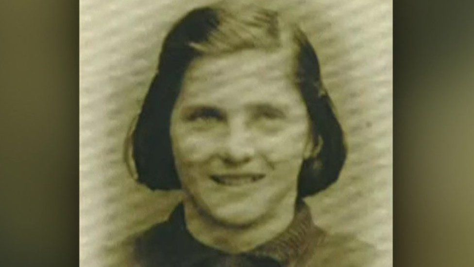 Kay White as a teenager