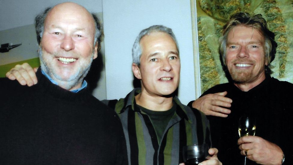 Jeremy Lascelles with Richard Branson and Chris Wright