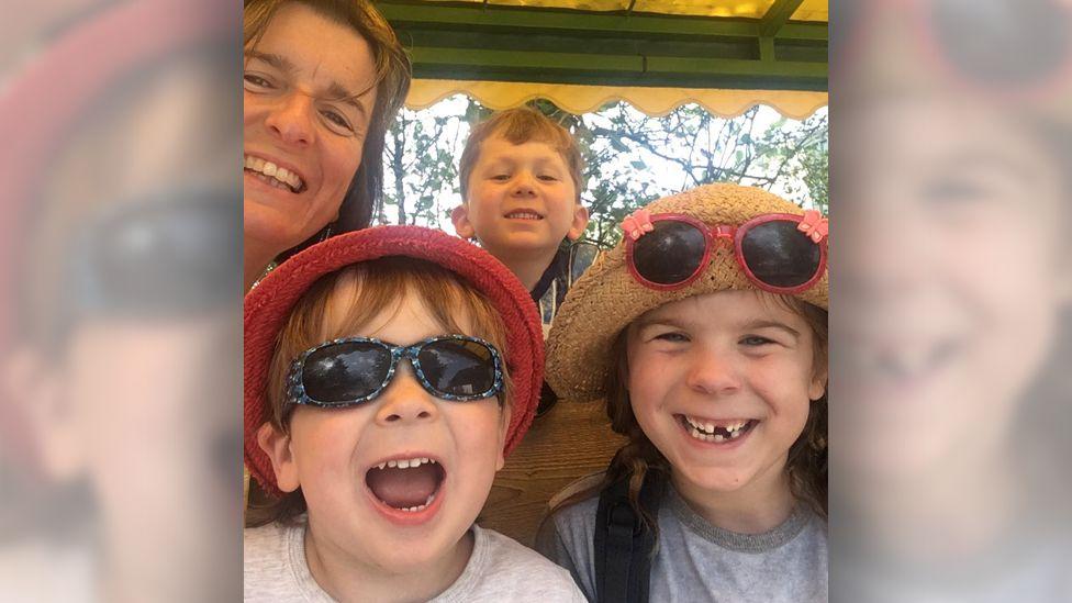 Jo Harris and family