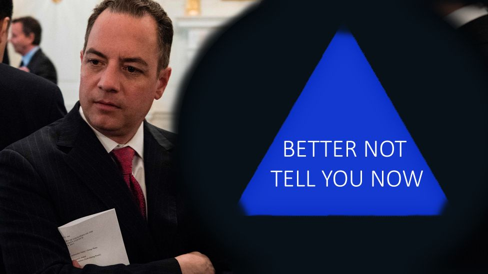 """""""Better not Tell you now"""" - Chief of Staff Reince Priebus and the mostly-empty executive branch"""