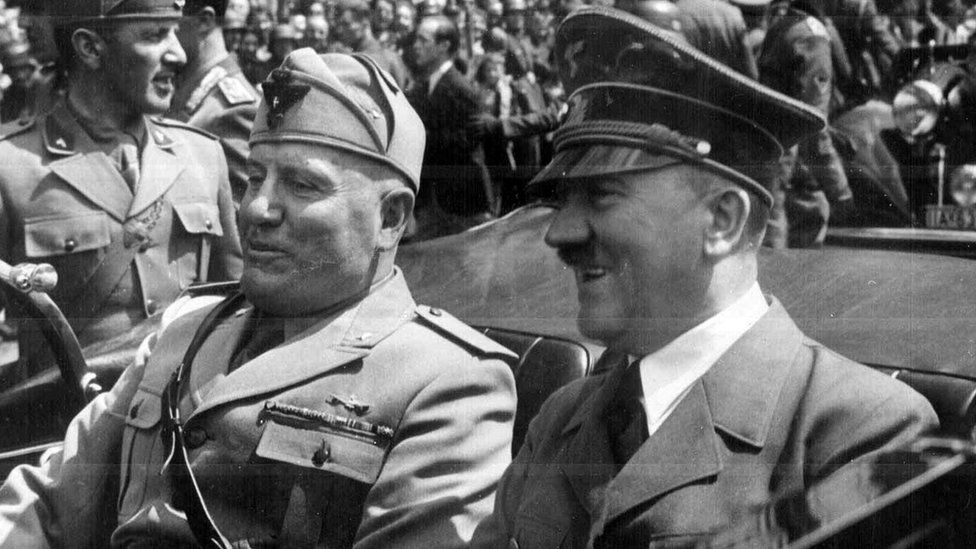 Hitler with Benito Mussolini