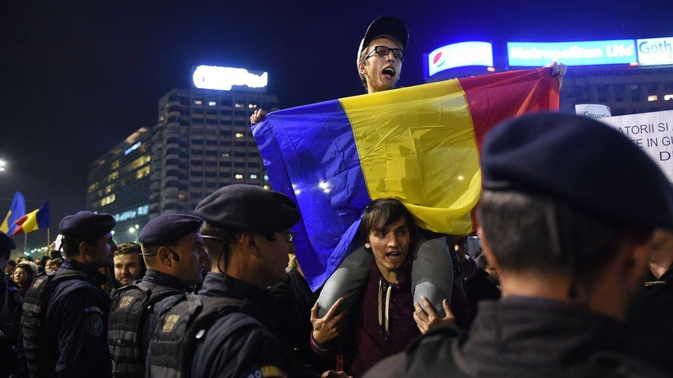 Protest in Bucharest (3 Nov)