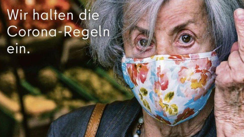Coronavirus Berlin Ad Sticks Middle Finger To Mask Rule Breakers Bbc News