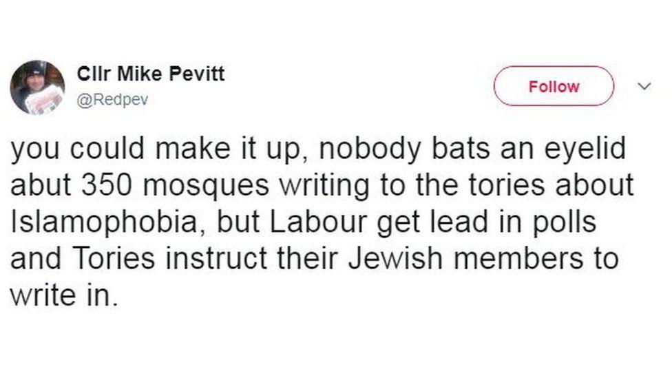Mike Pevitt tweet