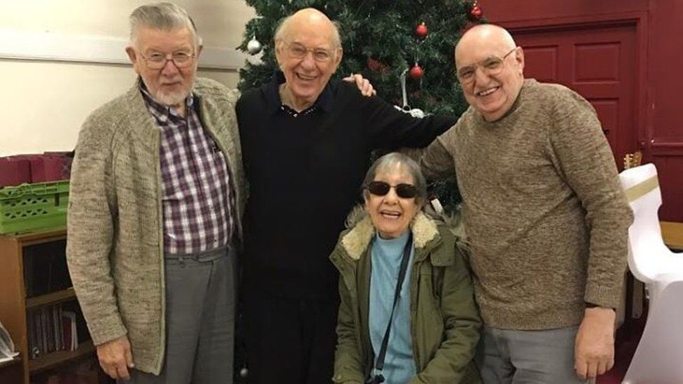 Former Beechmere residents David, Fred, Margaret and Rob