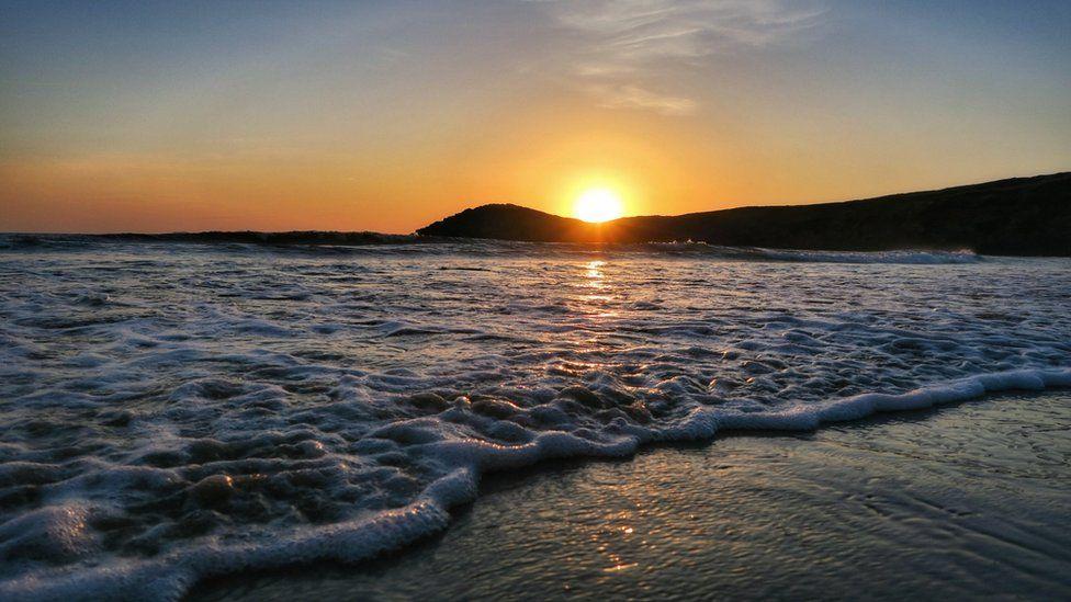 Sunset over Whitesands Bay in St Davids