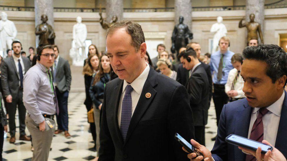 Adam Schiff walks through the Senate